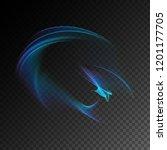 semitransparent neon light... | Shutterstock .eps vector #1201177705
