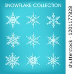 snowflakes collection set for... | Shutterstock .eps vector #1201177828