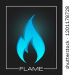 flammable symbol. icon with... | Shutterstock . vector #1201178728