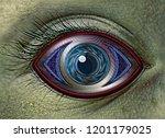 a cyber alien robot reptilian... | Shutterstock . vector #1201179025
