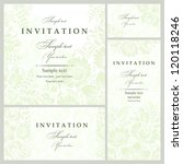 wedding invitation cards... | Shutterstock .eps vector #120118246