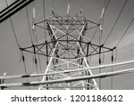 modern outdoor electrical power ... | Shutterstock . vector #1201186012