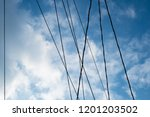 abstract electric cable lines... | Shutterstock . vector #1201203502