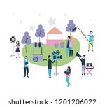 movie people production | Shutterstock .eps vector #1201206022