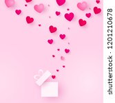 love and valentines day.... | Shutterstock . vector #1201210678