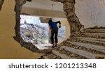 Stock photo destructive schools yemen 1201213348