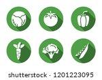 vegetebles. vector flat icon set | Shutterstock .eps vector #1201223095