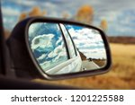 blue sky with fluffy clouds and ... | Shutterstock . vector #1201225588