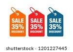 35  discount label symbols...   Shutterstock .eps vector #1201227445