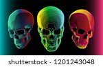 3 psychedelic gradient colorful ... | Shutterstock .eps vector #1201243048