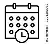 calendar with clock  timetable... | Shutterstock .eps vector #1201250092