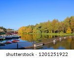 view river in buki park  kyiv... | Shutterstock . vector #1201251922