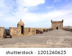 watchtower and cannons on the... | Shutterstock . vector #1201260625