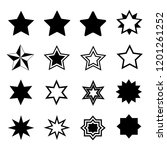 set of stars in flat style. | Shutterstock .eps vector #1201261252