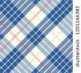geometric gingham square fleece ... | Shutterstock .eps vector #1201266385