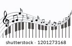 Piano Keyboard Music Notes...