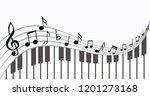 piano keyboard piano keyboard.... | Shutterstock .eps vector #1201273168