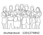 continuous line drawing of... | Shutterstock .eps vector #1201274842