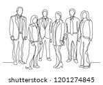 continuous line drawing of... | Shutterstock .eps vector #1201274845