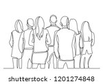 continuous line drawing of... | Shutterstock .eps vector #1201274848