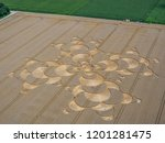 crop circle in a cornfield at... | Shutterstock . vector #1201281475