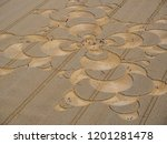 crop circle in a cornfield at... | Shutterstock . vector #1201281478