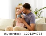 family  parenthood and people... | Shutterstock . vector #1201294735