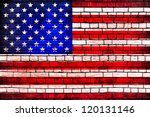 American Flag Brick Wall...