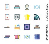 hotel icon set. vector set...   Shutterstock .eps vector #1201325122
