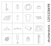 vector illustration of knitting ... | Shutterstock .eps vector #1201328698