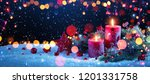 christmas decorations with... | Shutterstock . vector #1201331758