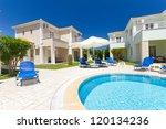exterior of a luxurious villa...   Shutterstock . vector #120134236