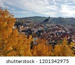 esk  krumlov  city in the... | Shutterstock . vector #1201342975