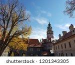 esk  krumlov  city in the... | Shutterstock . vector #1201343305