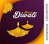 diwali festival holiday design... | Shutterstock .eps vector #1201365925