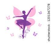 cartoon flat icon of fairy.... | Shutterstock .eps vector #1201367278