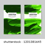 set of vector business card... | Shutterstock .eps vector #1201381645