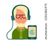 cartoon vector icon of computer ... | Shutterstock .eps vector #1201381975