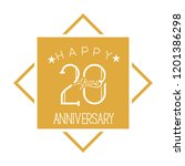 number 20 for anniversary... | Shutterstock .eps vector #1201386298