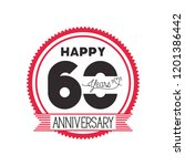 number 60 for anniversary... | Shutterstock .eps vector #1201386442