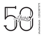 number 50 for anniversary... | Shutterstock .eps vector #1201387375