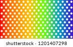 vintage polka dots  pattern ... | Shutterstock .eps vector #1201407298