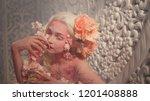 young beautiful girl elf.... | Shutterstock . vector #1201408888