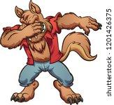 dabbing halloween werewolf. ... | Shutterstock .eps vector #1201426375