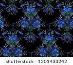 seamless watercolor pattern in... | Shutterstock . vector #1201433242