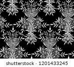 seamless watercolor pattern in... | Shutterstock . vector #1201433245