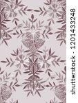 seamless watercolor pattern in... | Shutterstock . vector #1201433248