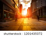 city life and colorful of... | Shutterstock . vector #1201435372