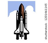 rocket blasting off | Shutterstock .eps vector #1201461145