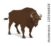 bison animal or wild mammal.... | Shutterstock .eps vector #1201466818